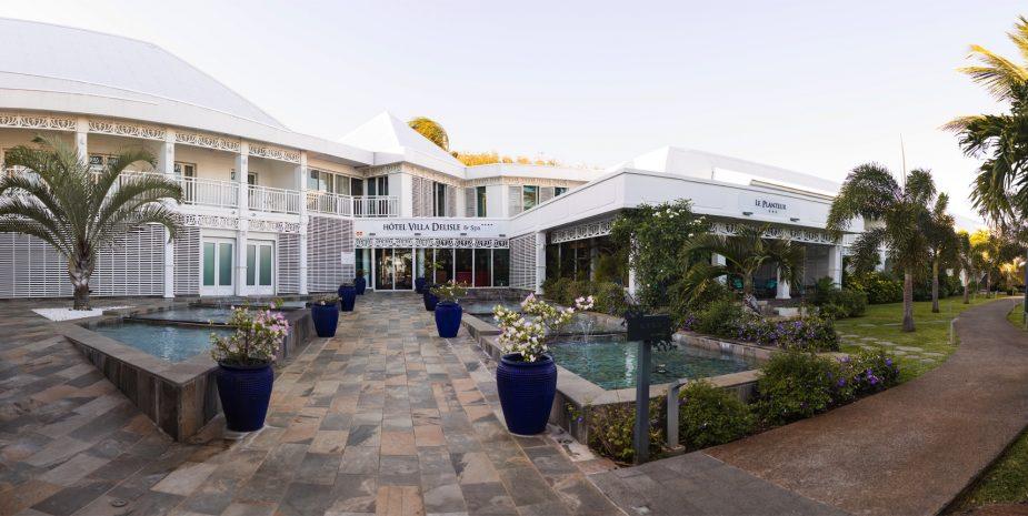 Panorama de l'entrée de l'Hôtel Villa Delisle
